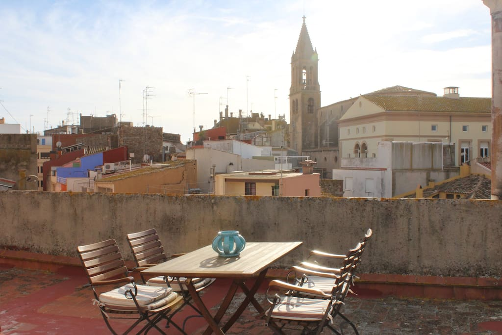Communal roof-terrace