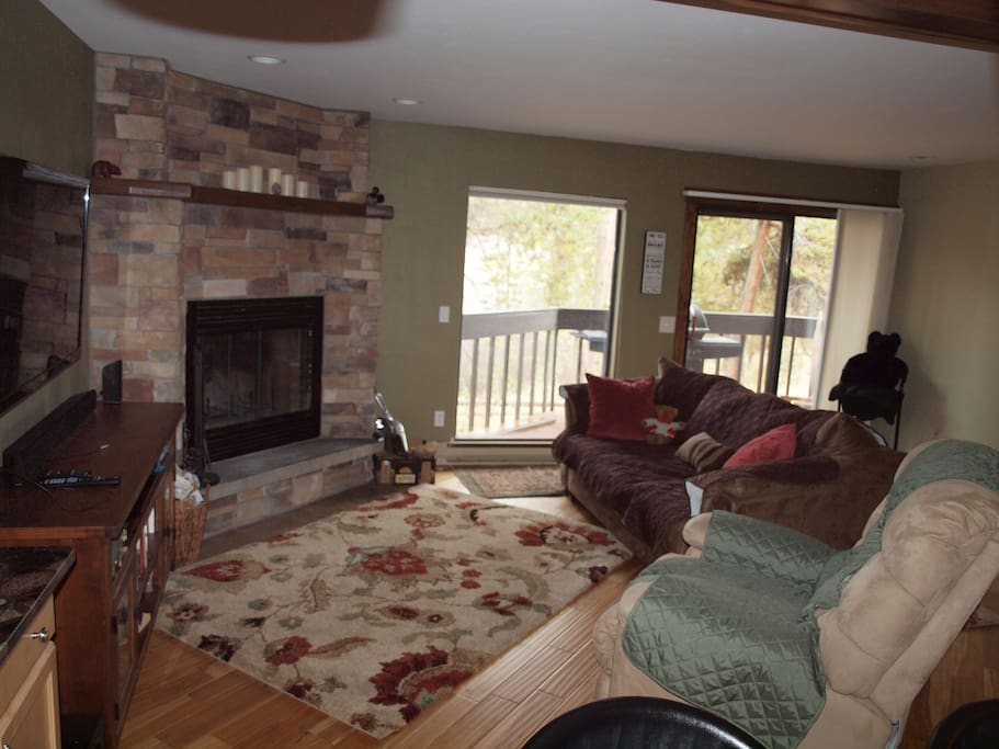 Family Room with Flat Screen TV and Fireplace