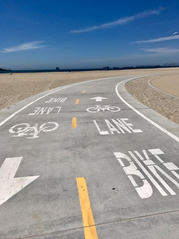 bike/running path located right off Santa Ana Ave. perfect for walking, running or biking!