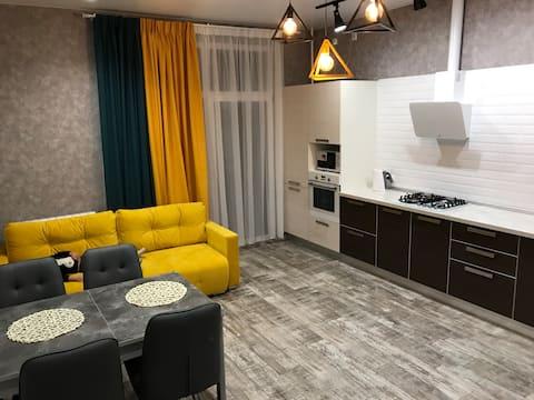 LOFT Premium Flat NIKA PARK. Шикарный вид на город