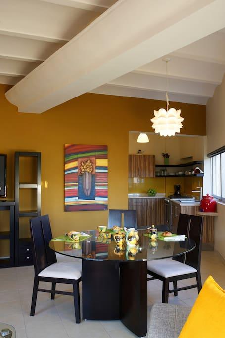 Samba mesa de comedor y cocina