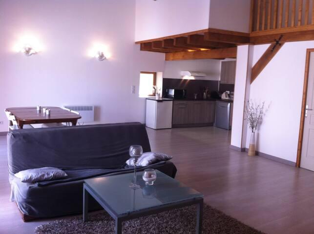 Charmante chambre dans un appartement atypique - Montredon-des-Corbières - Rumah