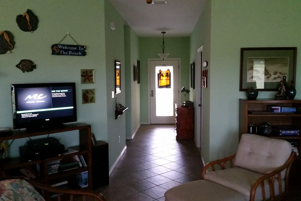 View of entry way from living area