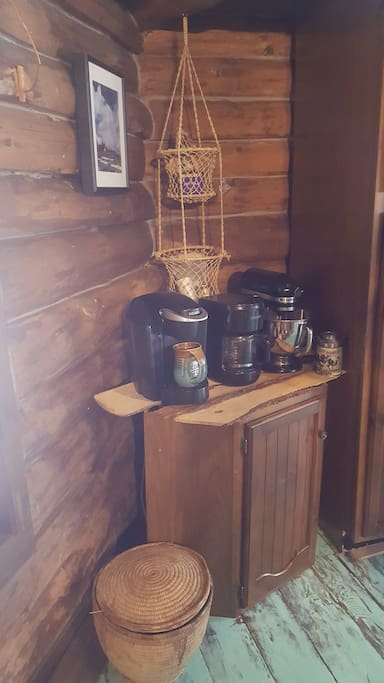 Coffee & Tea Corner with locally harvested teas (when in season)