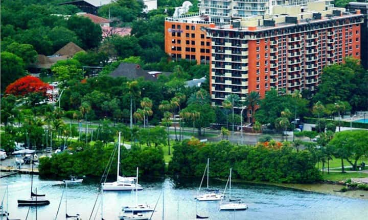 *Bayfront Coconut Grove flat, pool, free parking