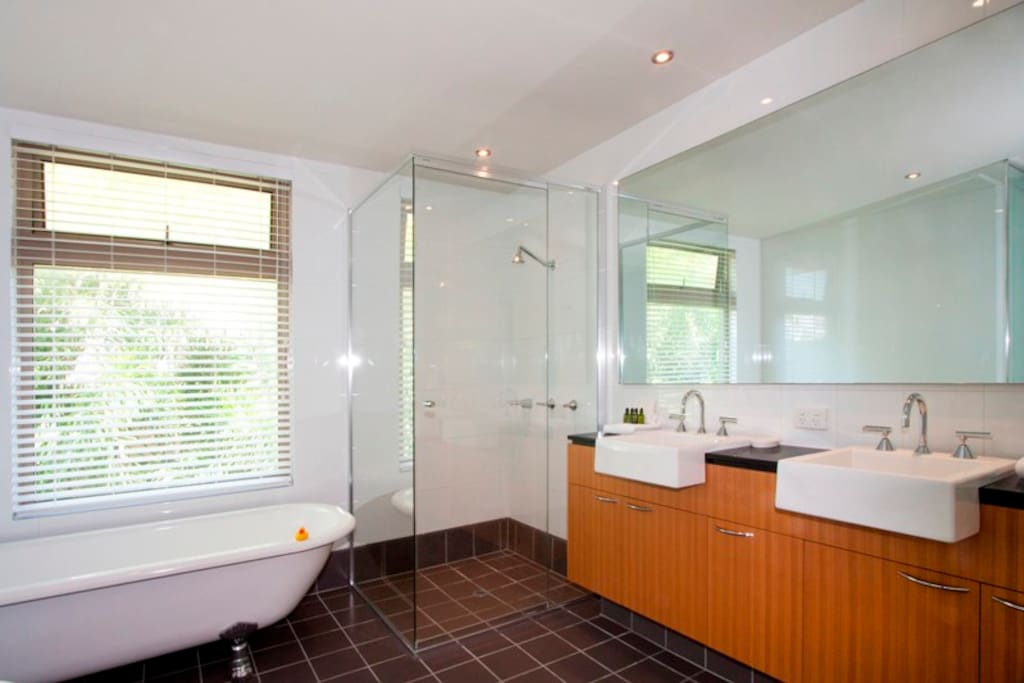 Beautiful large bath and shower room.