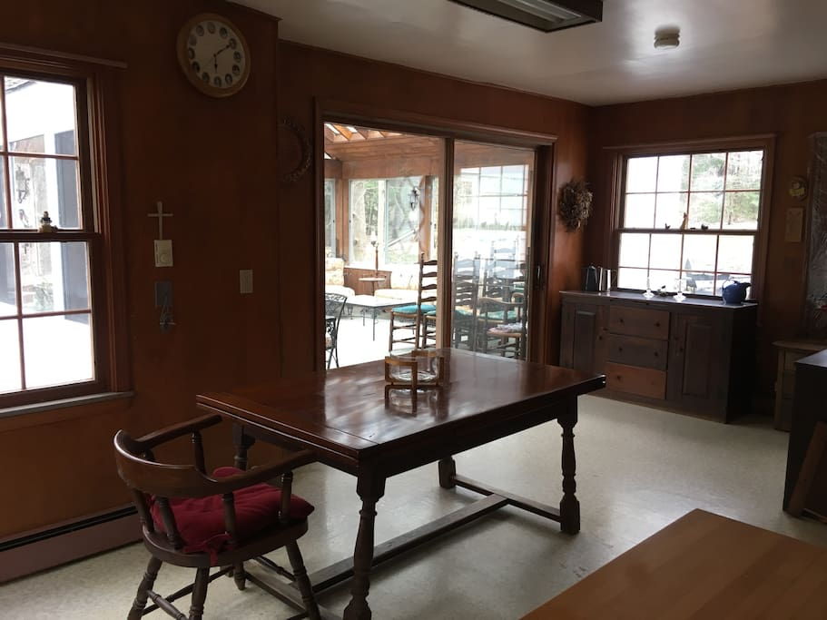 Large Kitchen with access to a beautiful sun room