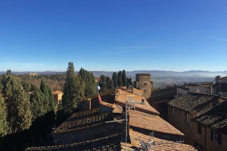 Panoramic loft in Val d'Orcia - San Quirico d'Orcia - Apartment