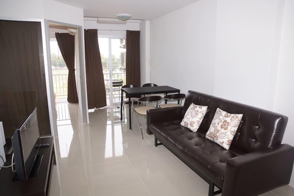 Living room, sofa TV