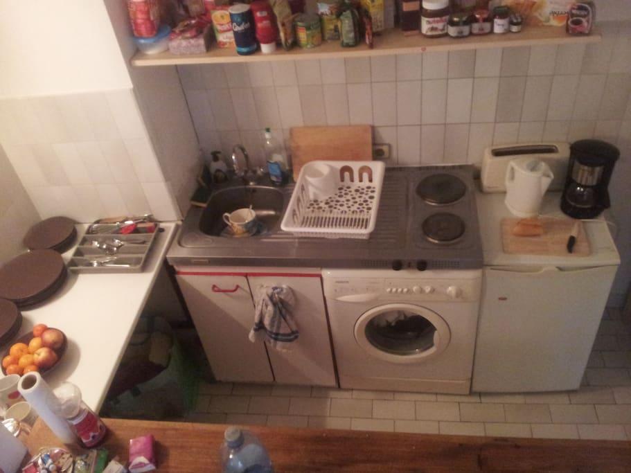 Cuisine, machine à laver