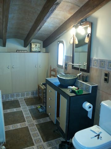 habitacion suite con baño privado - Sils - Hus