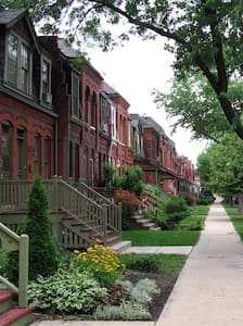 Historic Rowhouse - Parking/Quick Train to Loop - Chicago - Rumah