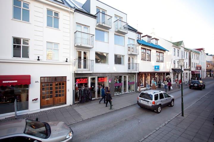 Downtown Reykjavik with a Jacuzzi