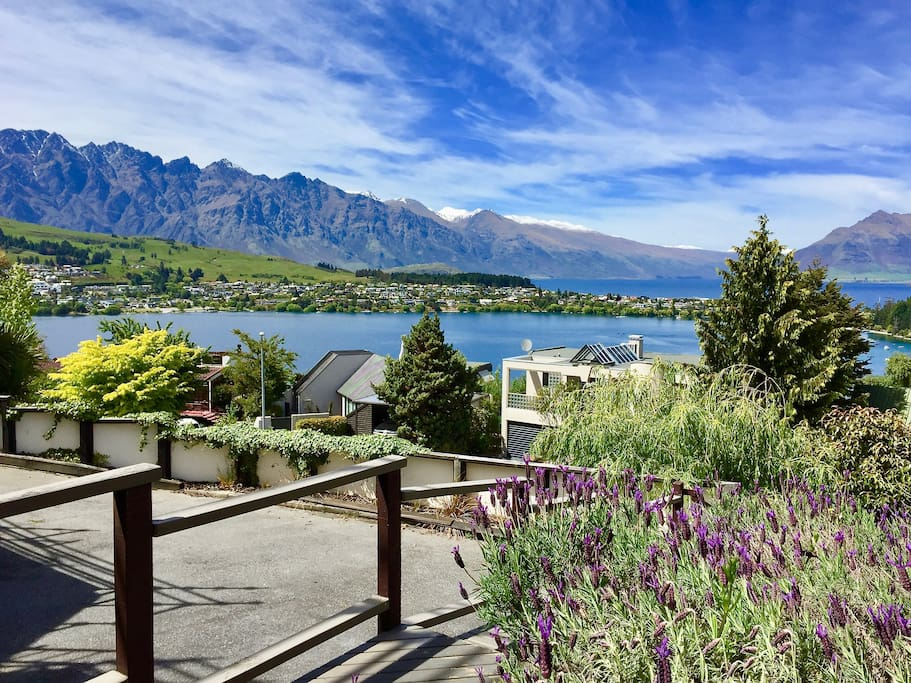 Surrounded by the smell of lavender, you can enjoy Queenstown's famous view of The Remarkables mountains from your doorstep