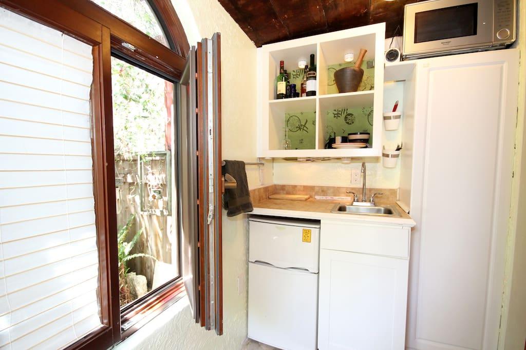 Kitchenette private cottage