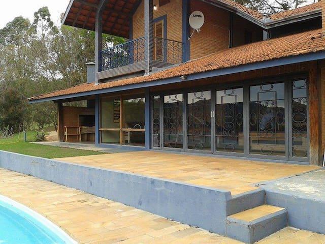 """Casa com """"Praia  de água doce"""" e vista inspiradora - São Paulo - Cabaña"""