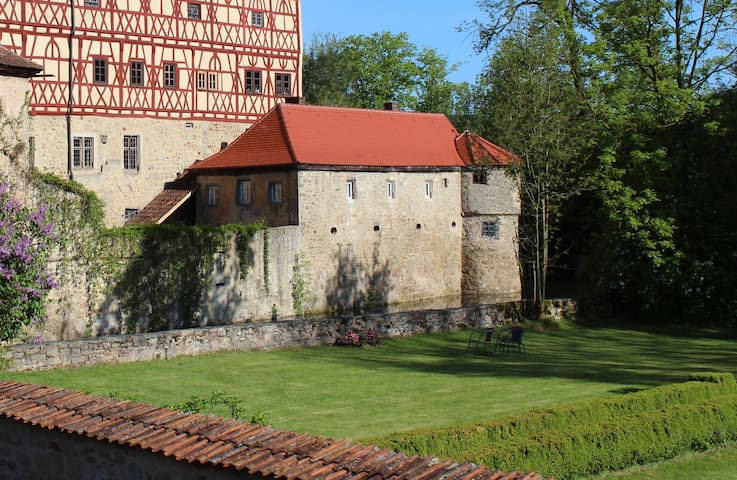 Manor by the moated castle