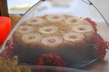 Chef Michelle's famous pineapple upside down cake