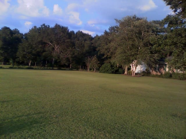 Expansive yard is a beautiful setting