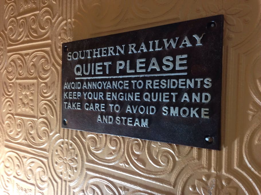Shhh. Just kidding. In honor of Maureen's dad who worked for Southern Railway.