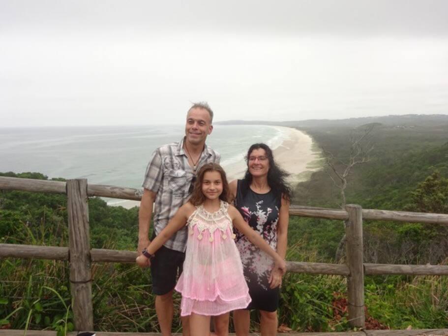 John moi et Amy en Australie