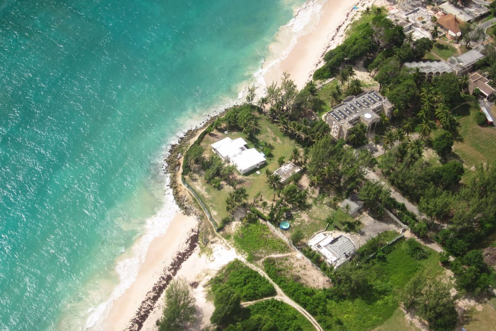 Areal view of The Beachhouse