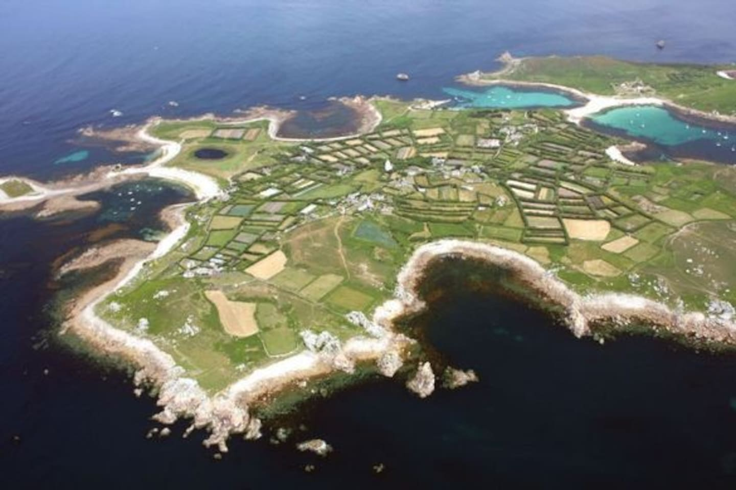 Birds Eye view of our tiny little island St Agnes
