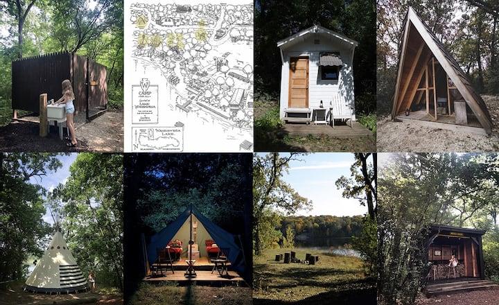 Camp Wandawega Rustic Camping Cluster