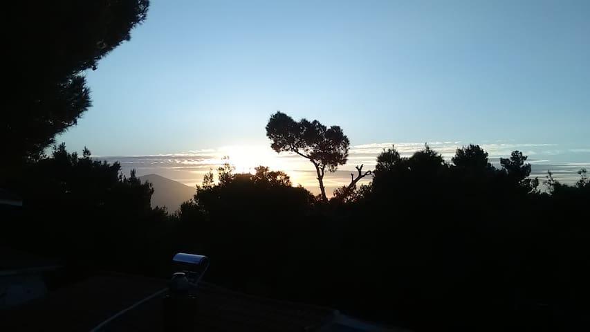 Sunny flat near mount Parnitha