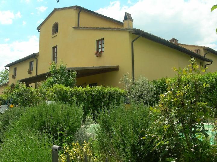 hearth of Chianti, lovely colonica house La Tinaia