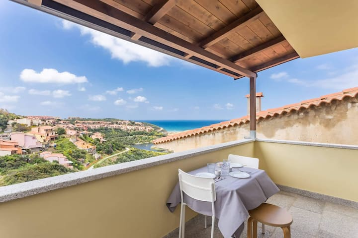 Rainbow Apartment con veranda vista mare e wifi