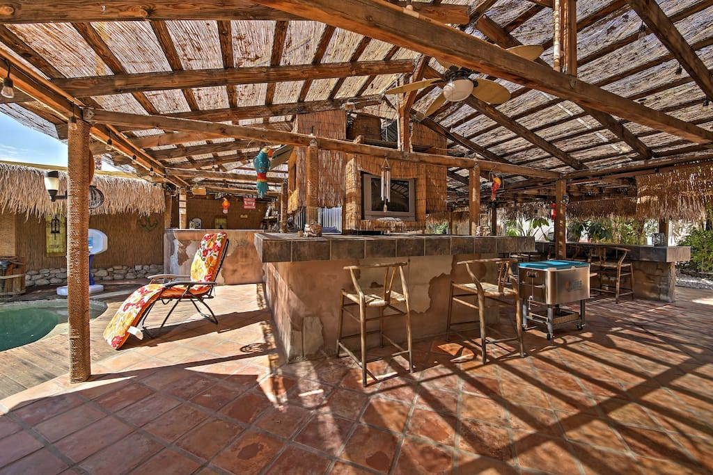 Boasting 2,500 square feet, this home includes this outdoor bar area!
