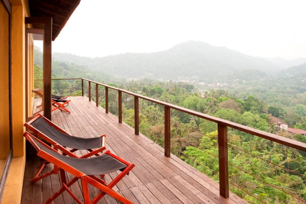 Wrap around deck with great views of the Mahaweli River Valley