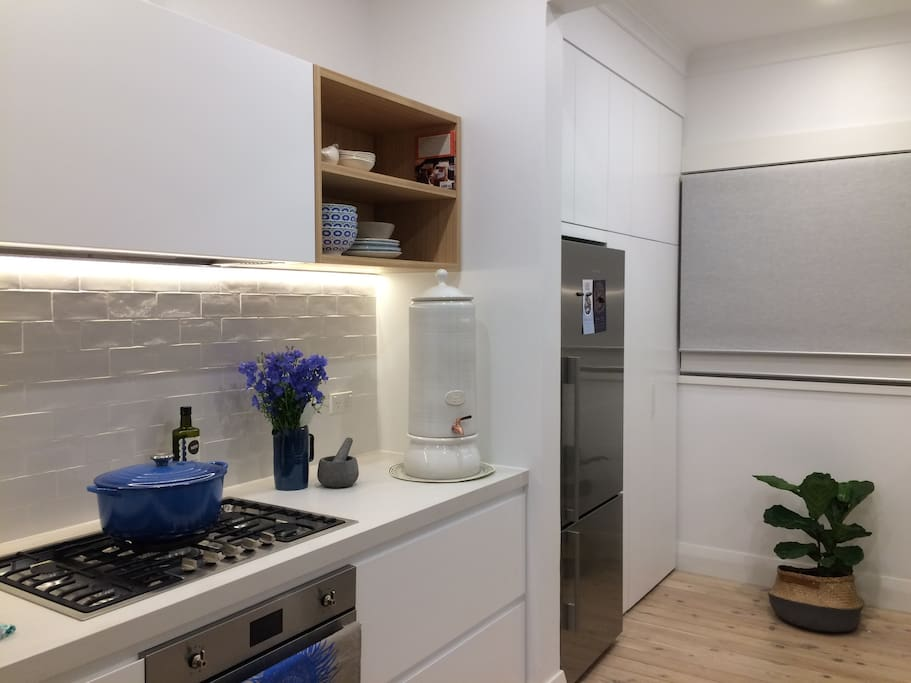 Newly renovated kitchen, all new appliances, including a glean & sparkly fridge.