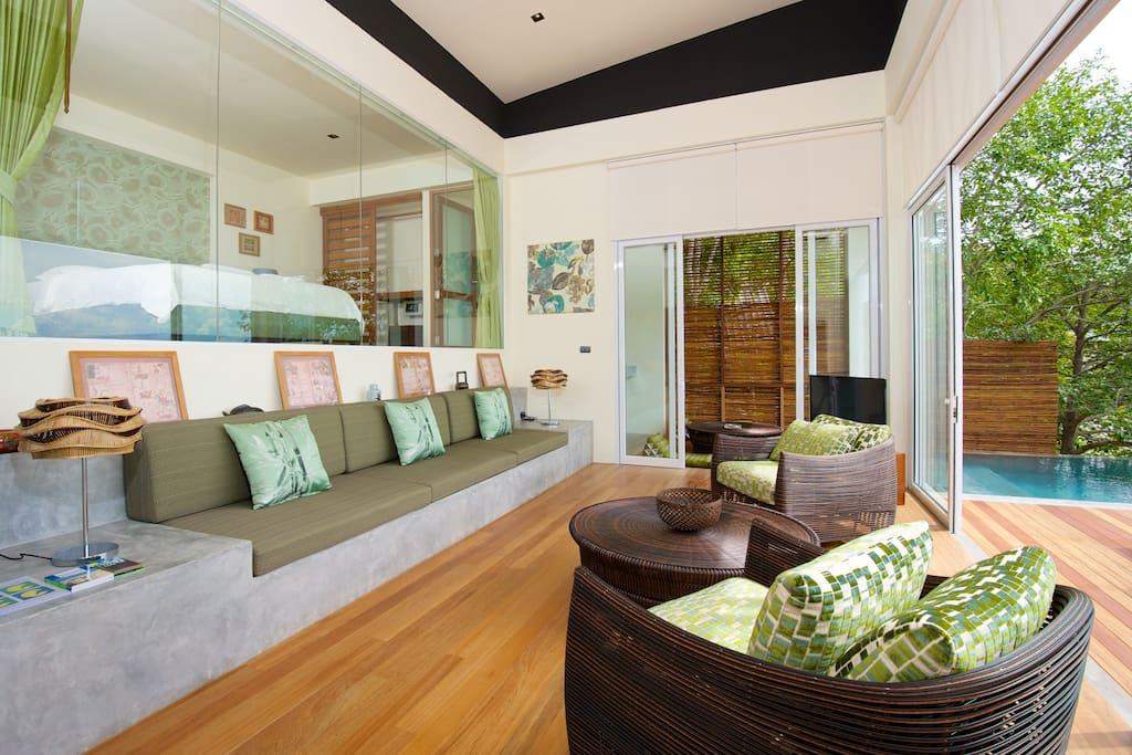 Luxury Green Pool Villa Seaview Villas For Rent In Ko Tao Surat Thani Thailand