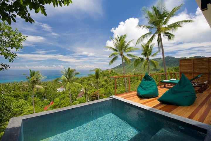 OverTheMoon Green Private Pool Villa Sea view