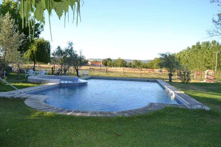 Casona Azul. Wide garden and pool