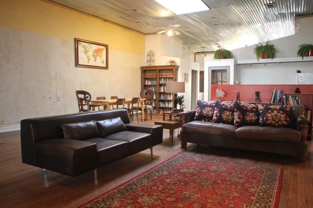 Alternate view of the large open living room.