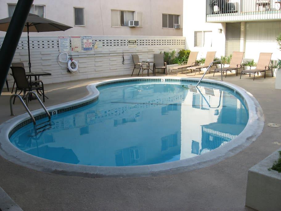 Pool in courtyard