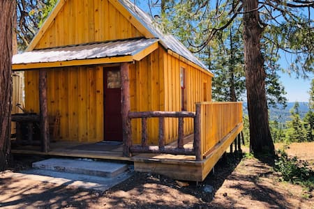 "The ""Moose Lodge"" cabin in the Sierra Nevada Mnts"