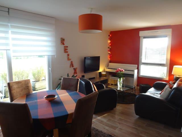 T2 (50m2)  proximité Vannes et  Golfe du Morbihan - Plescop - Apartamento