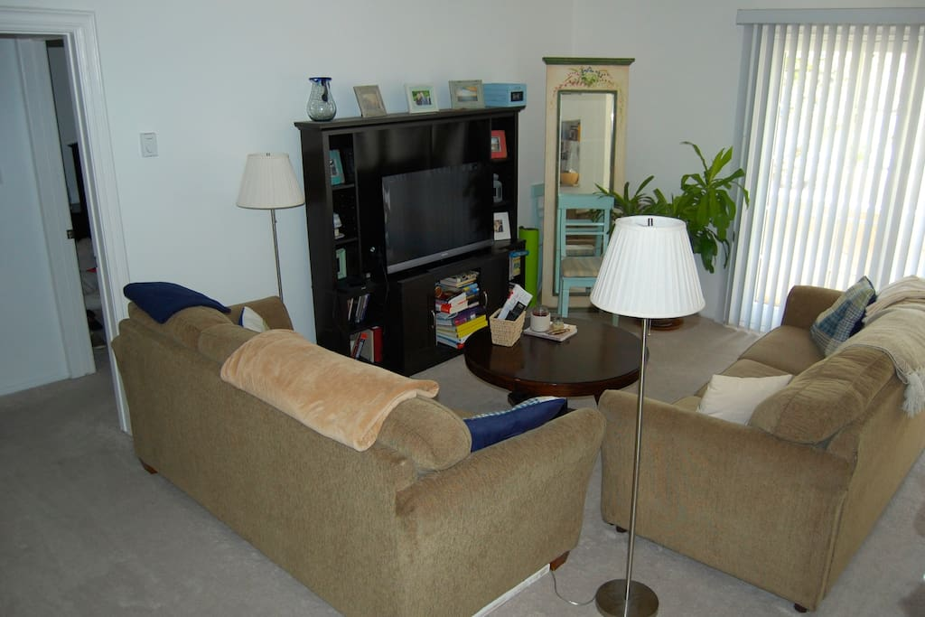 Living room with free wifi + apple tv!
