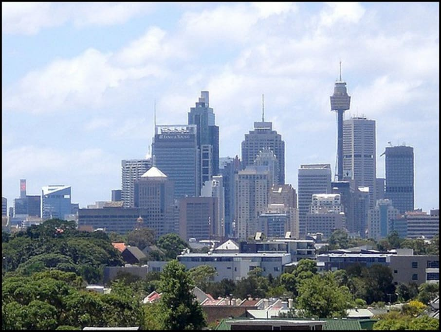 View of the city from Rosebery
