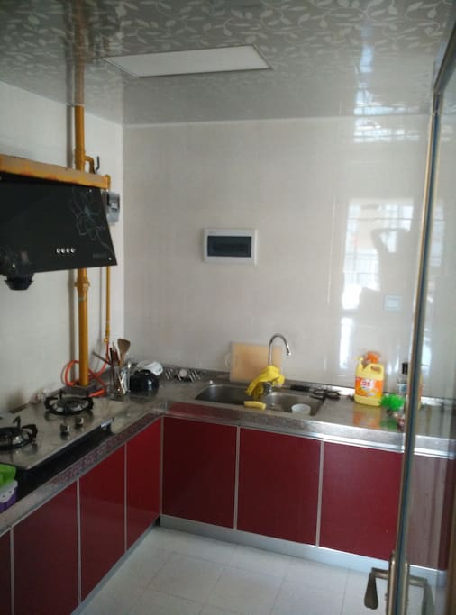 Kitchen, with gas stove