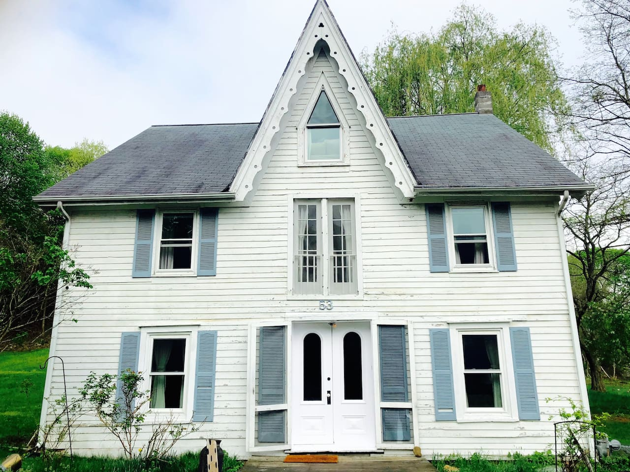 Welcome to Sparrow House!  An historic Carpenter Gothic Victorian built in 1859 by Captain L.P. Clark.