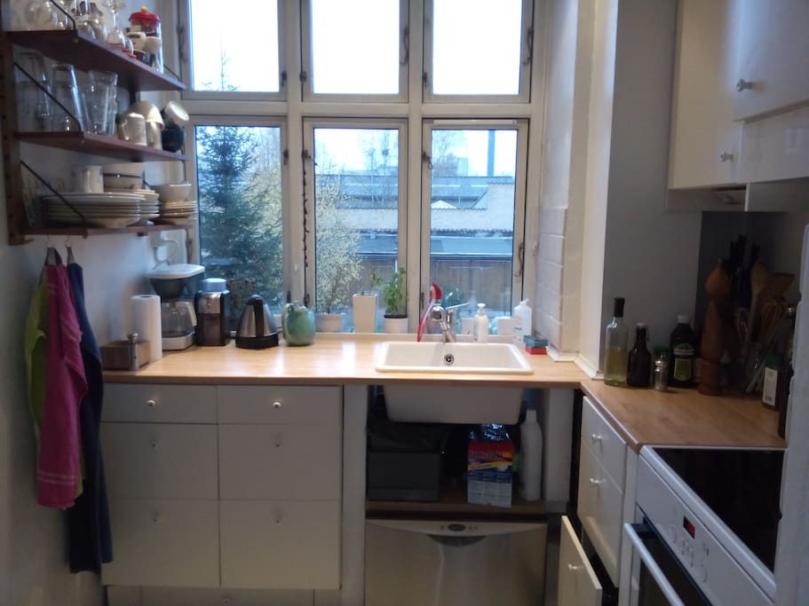 Fully equipped kitchen you can use if you wish.