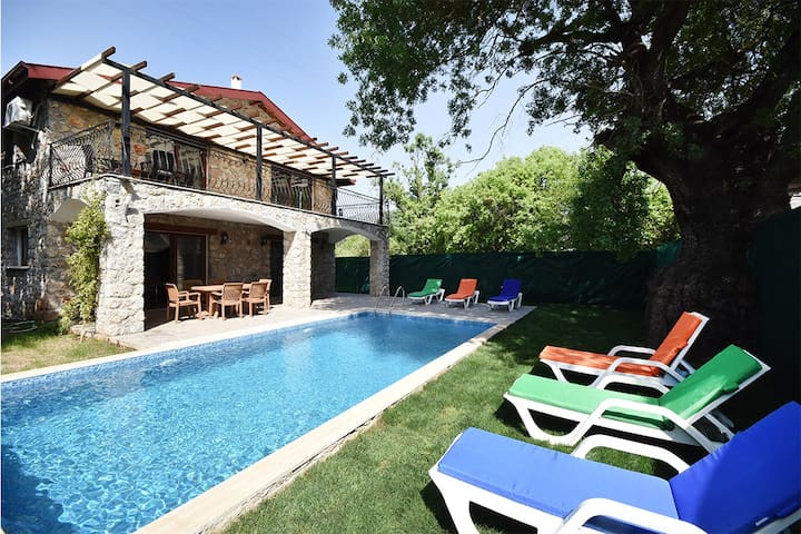 Private Stone Villa in Kayakoy With Secluded pool