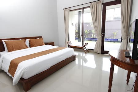 A modern room with swimming pool - Denpasar
