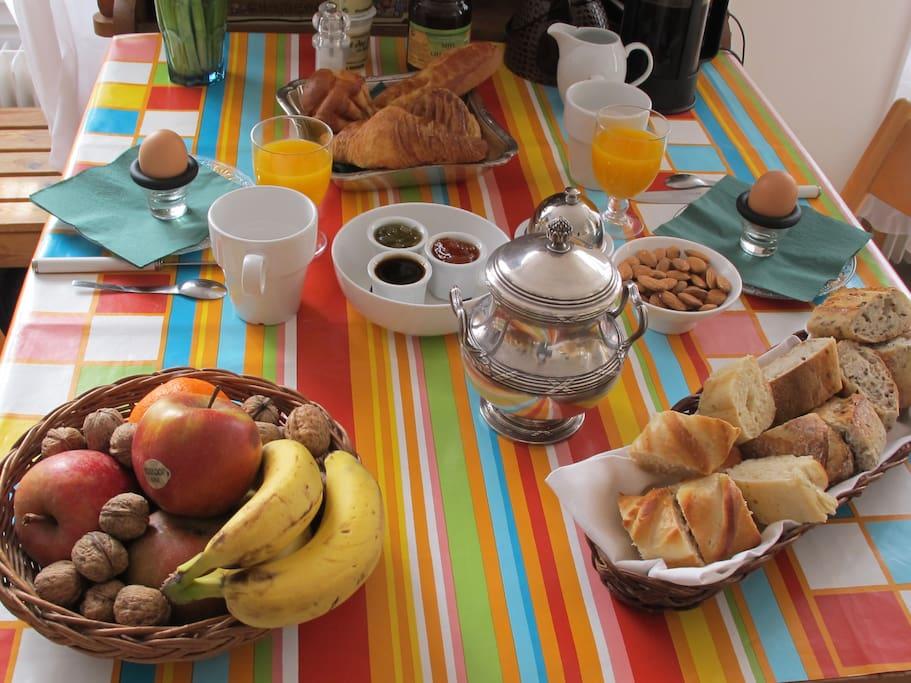 le petit déjeuner/breakfast