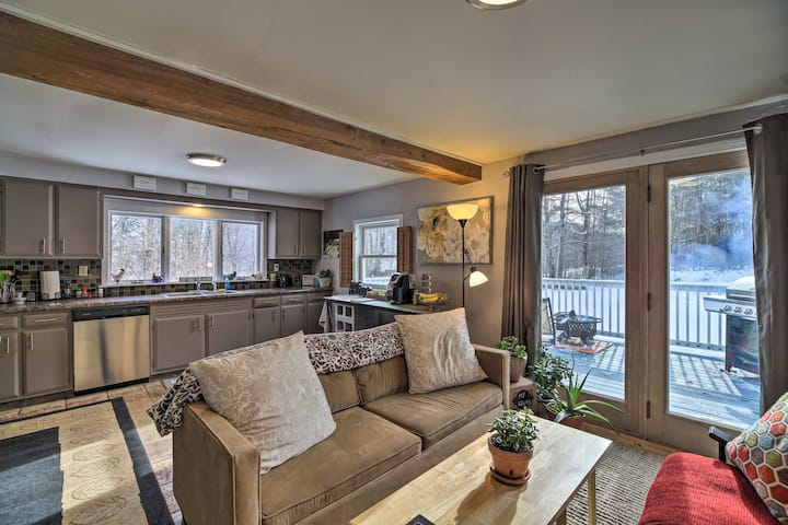 NEW! Wooded Retreat w/ Deck - Near Skiing & Hikes!